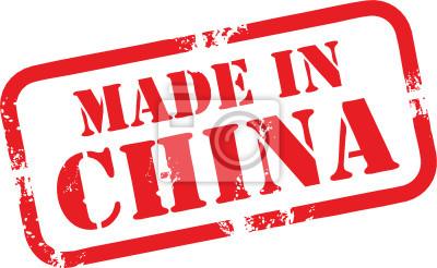 Abstract Grunge Stempel mit dem Wort Made in China geschrieben innen