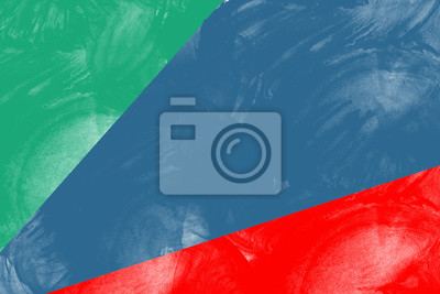 Abstract Hand gezeichnet grün, dunkelblau, rote Aquarell-Illustration auf weißem Hintergrund, kopieren Sie Platz für Text