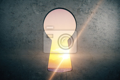 Abstract keyhole in wall