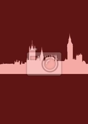 Abstract London skyline with illustration