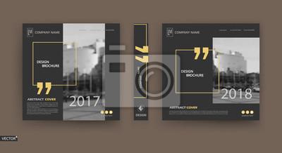 Sticker Abstract Patch Broschüre Cover Design. Black Info Daten Banner Rahmen. Techno-Titelblatt-Modellsatz. Moderne Vektor-Frontseite Kunst. Urban City Blurb texture.Yellow Zitat Figur Symbol. Anzeige Flyer