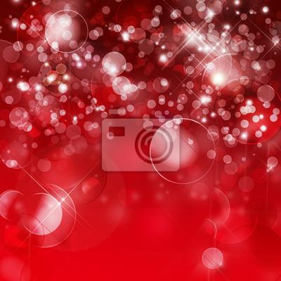 Abstract red Bokeh Hintergrund