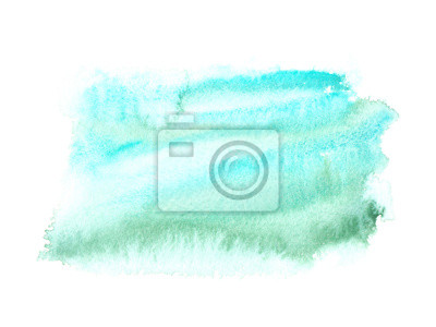 Abstract Sky Blue And Green Color Splatter Painted In