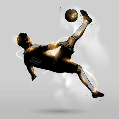 Sticker abstract soccer overhead kick