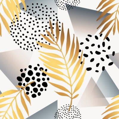 Sticker Abstract summer seamless pattern.