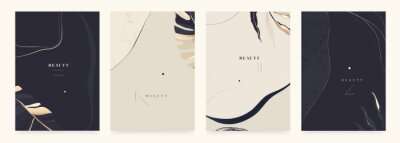 Sticker Abstract trendy bright artistic background templates. Fashionable template for design.