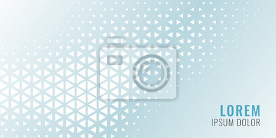 Sticker abstract triangle pattern banner design