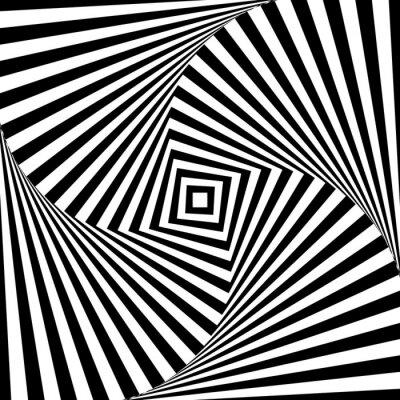 Sticker Abstract vector optische Illusion in schwarz und weiß