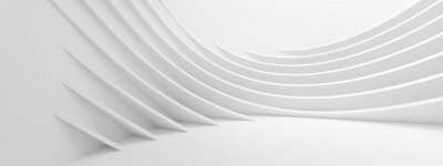 Sticker Abstract Wave Background. Minimal White Geometric Wallpaper