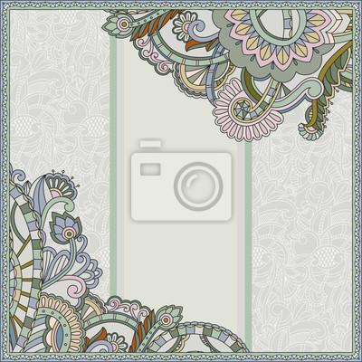 Abstrakt Blume auf ornamentalen Hintergrund, kann verwendet werden, um zu entwerfen