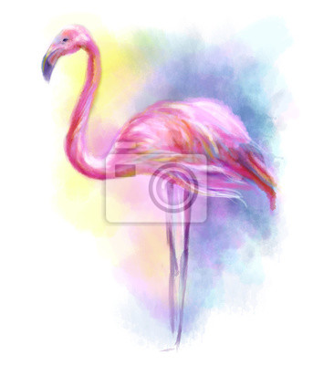 Sticker Abstrakt Flamingo Pink illustration