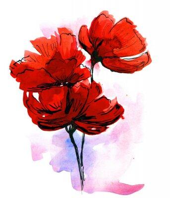 Abstrakt gemalt floral background
