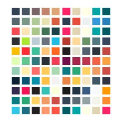Sticker Abstrakt geometrische retro Muster für Ihr Design