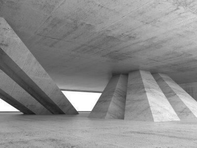 Sticker Abstrakt leere Beton interior 3d render