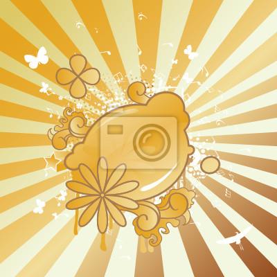 Abstrakt Partei Hintergrund Vektor-Illustration in der goldenen Farbe