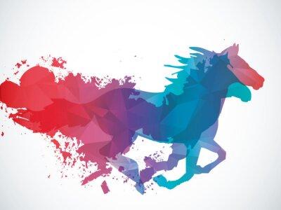 Sticker Abstrakt Pferd