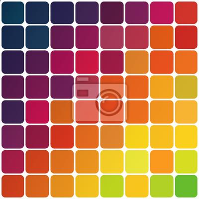 Abstrakte bunte abgerundeten Quadraten Hintergrund. Vector, EPS10