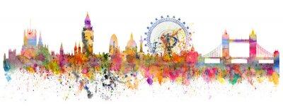 Sticker Abstrakte Darstellung der London Skyline