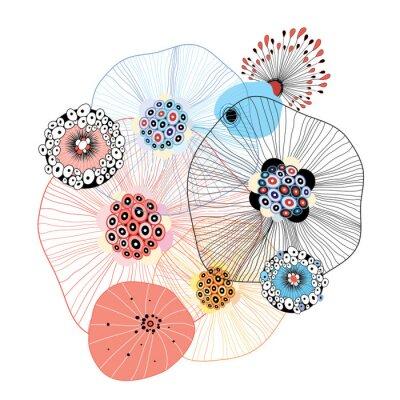 Sticker abstrakte Elemente