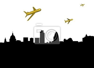 abstrakte Flugzeuge abfliegen London Illustration