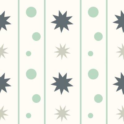 Sticker Abstrakte geometrische nahtlose Vektor-Muster Hintergrund Illustration