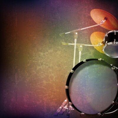 Sticker abstrakte Grunge Hintergrund mit Drum-Kit