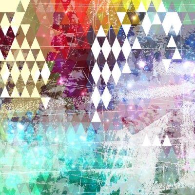 Sticker Abstrakte Grunge-Stil Hintergrund mit beunruhigten Effekt