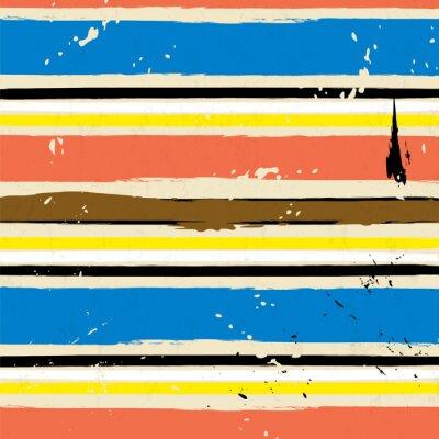 Sticker Abstrakte Hintergrund, mit Schlägen und Spritzer, Streifenmuster,