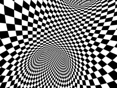 Sticker Abstrakte Illusion