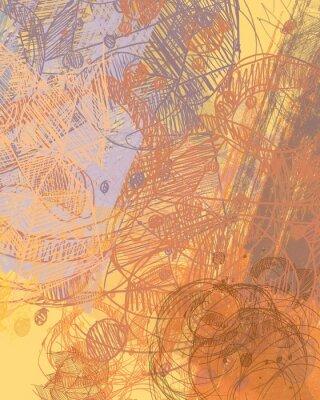 Sticker Abstrakte Malerei auf Leinwand. Handgemachte Kunst. Bunte Textur. Moderne Kunstwerke. Schläge von fetter Farbe. Pinselstriche. Zeitgenössische Kunst. Künstlerischer Hintergrund.