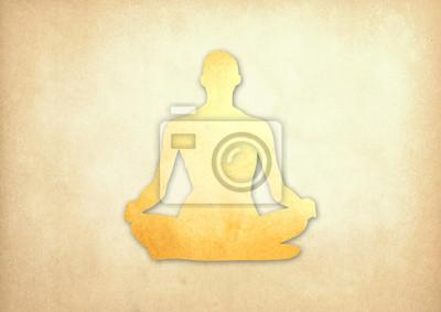 Abstrakte Meditation Leute von Grunge Papier Hintergrund