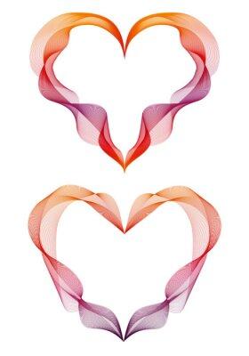 Sticker abstrakte Multifunktionsleiste Herzen, Vektor