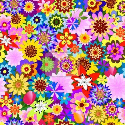 Abstrakte nahtlose floralen Muster (Vektor)