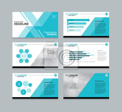 Abstrakte seite layout-design-vorlage für die präsentation mit ...