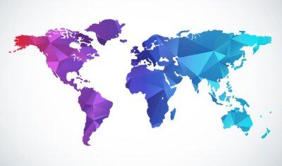 Sticker Abstrakte Weltkarte
