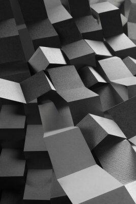 Sticker Abstrakte Zusammensetzung von Papierstreifen, geometrischer Hintergrund