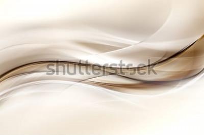 Sticker Abstrakter Brown-Wellen-Design-Hintergrund