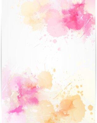 Sticker Abstrakter Hintergrund des Aquarells mit Farbe spritzt.