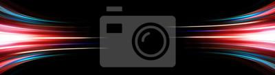 Sticker Abstrakter Hintergrund des langen Explosure-Geschichtelichts auf Schwarzem, Technologie backgroud