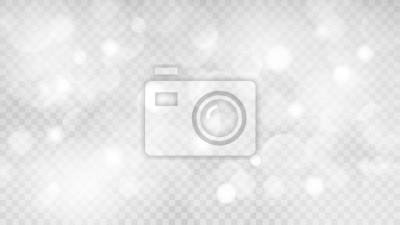 Sticker Abstrakter transparenter heller Hintergrund mit Bokeh-Effekten in den grauen Farben.  Transparenz nur im Vektorformat