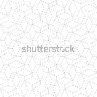 Sticker Abstraktes geometrisches Muster mit dem Überqueren von dünnen Linien. Stilvolle Textur in grauer Farbe. Nahtloses lineares Muster.