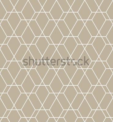 Sticker Abstraktes geometrisches Muster mit Linien. Ein nahtloser Vektor Hintergrund. Grafisches modernes Muster.