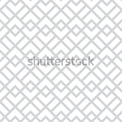 Sticker Abstraktes geometrisches Muster mit Quadraten, Rauten. Ein nahtloser Vektor Hintergrund. Graues und weißes grafisches Muster.