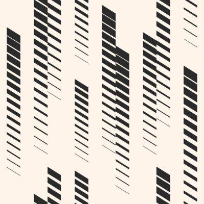 Sticker Abstraktes grafisches nahtloses Muster mit vertikalen Linien, Bahnen, Halbtonstreifen. Sportmuster. Urbane Muster.