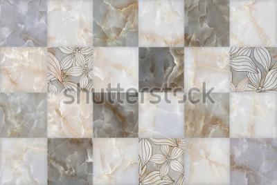 Sticker Abstraktes Marmorstein blockiert Muster