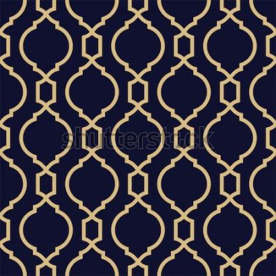 Sticker Abstraktes Muster im arabischen Stil. Nahtloser geometrischer Vektorhintergrund.