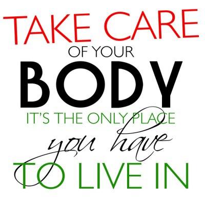 Sticker Achten Sie auf Ihre Körper Quote