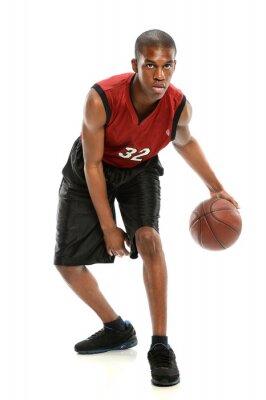 Sticker African American Basketball Player