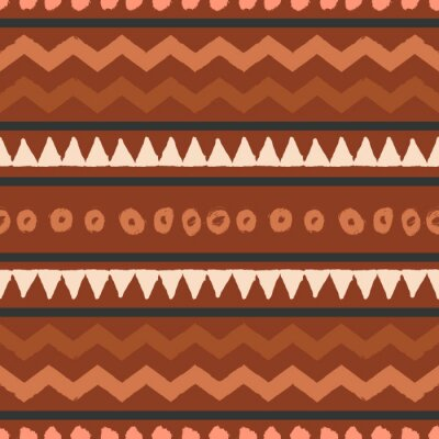 African Mudcloth Seamless Pattern