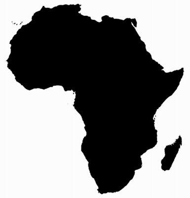 Sticker Afrika-Karte